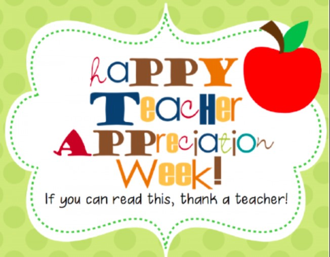 May 4-8, 2020 is Teacher Appreciation Week!