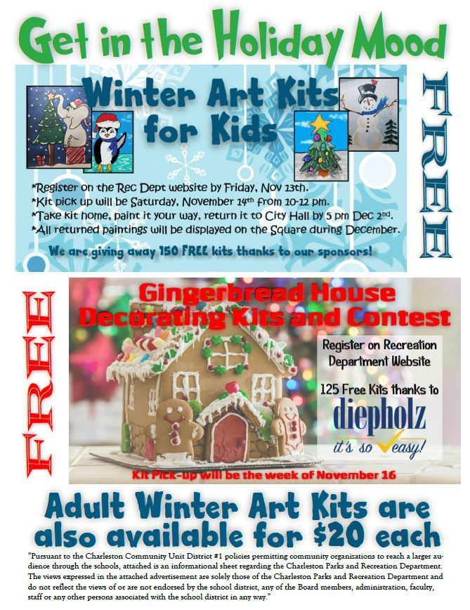 Rec Dept Winter Art Kits