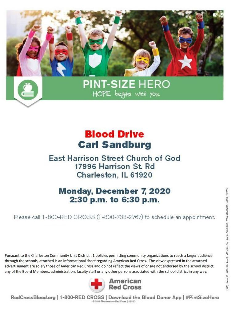American Red Cross Blood Drive Flier