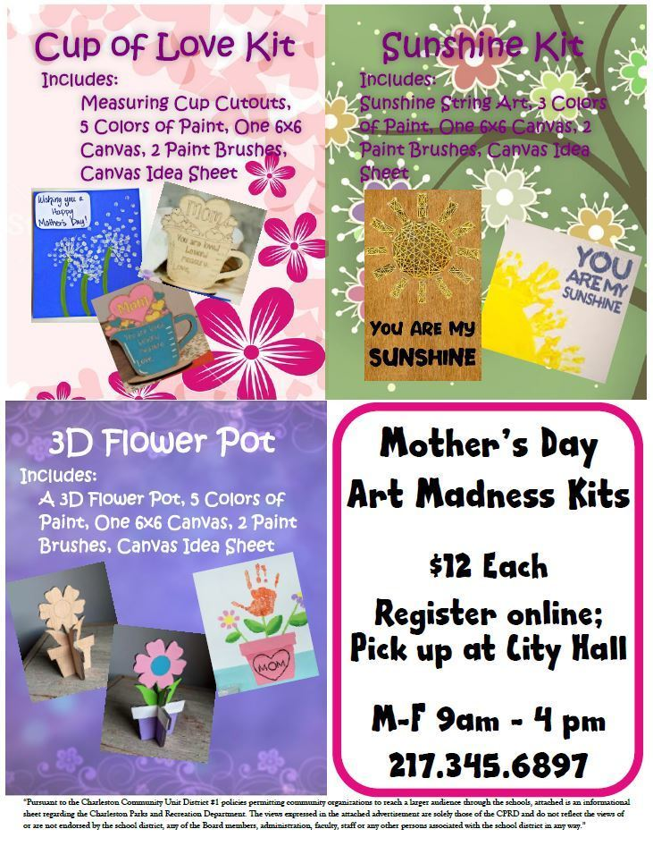 Mothers Day Art Kits Charleston Rec Dept