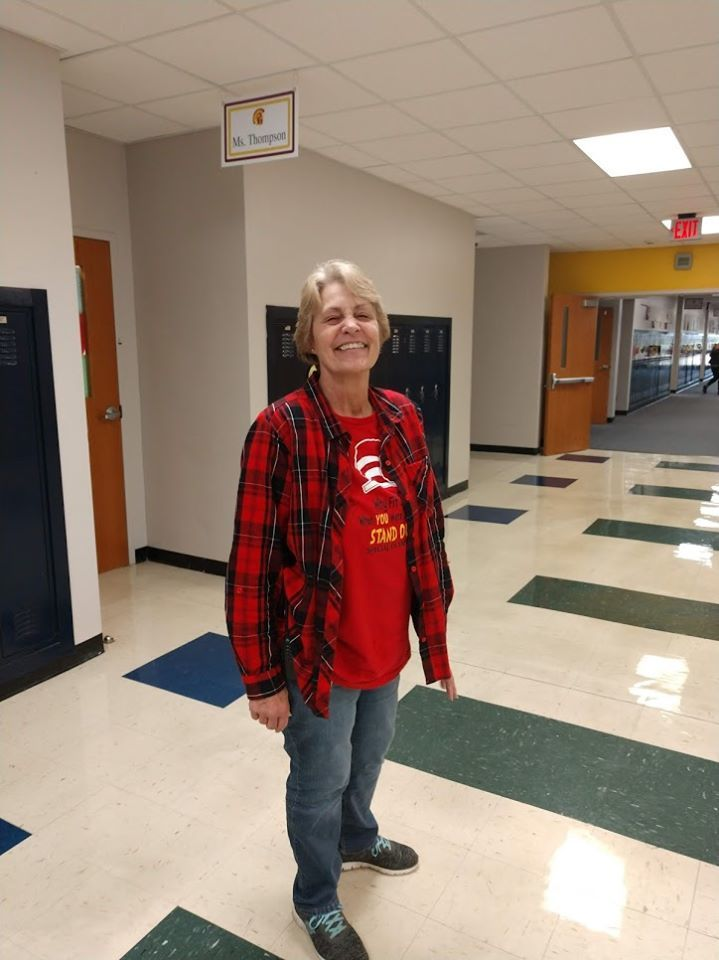 Ms. Ferguson, head custodian at Charleston Middle School