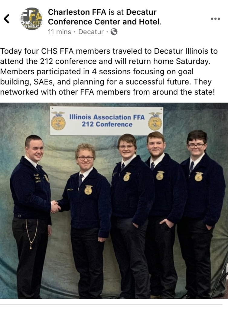 Four CHS FFA members at the 212 Conference