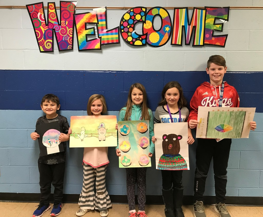 February Amazing Artists:  Kdg  Fabiyan; 1st  Lindyn; 2nd  Maddy; 3rd  Abby; 4th  Jonny