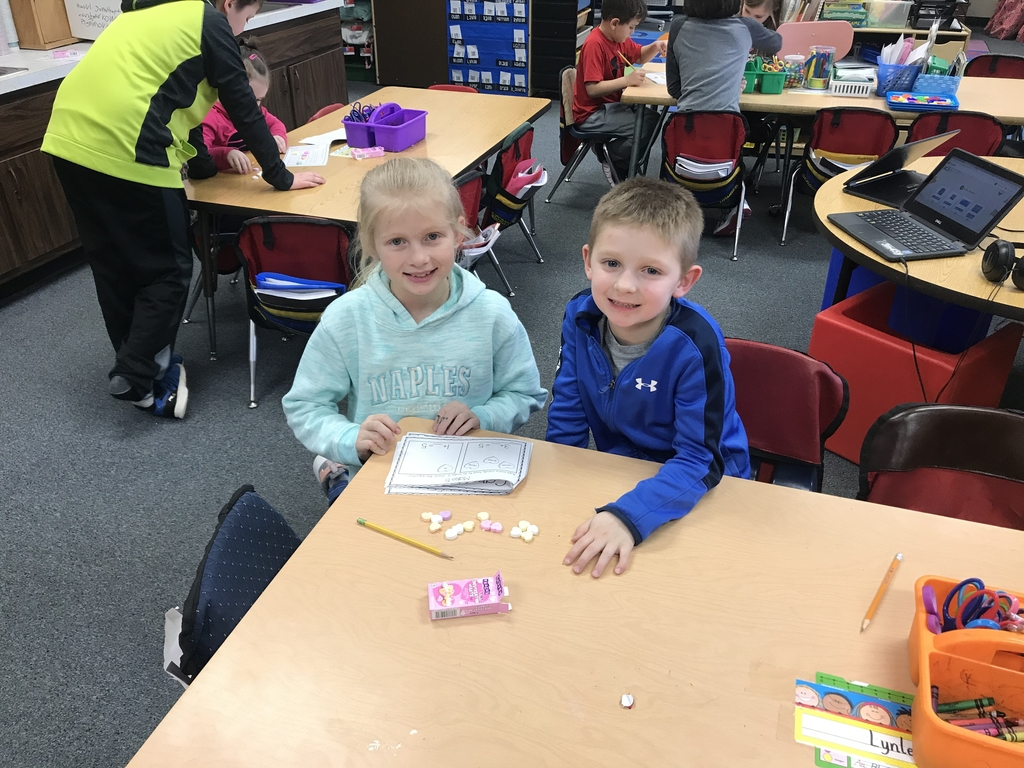 Valentine Math with 4th grade Buddies