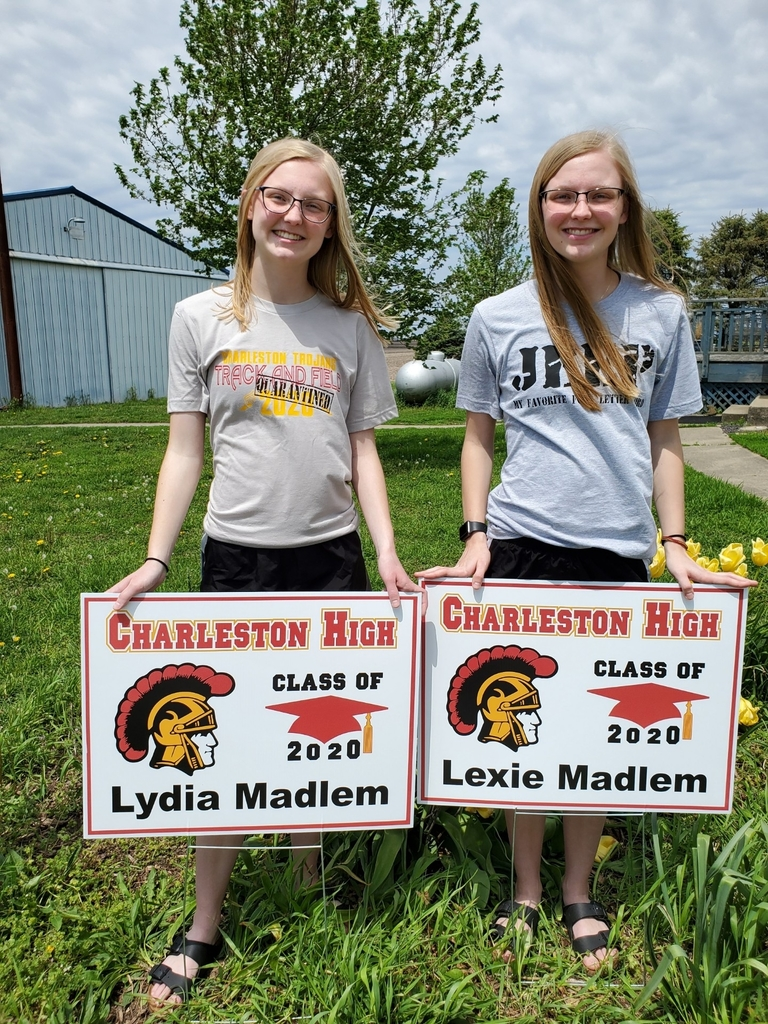 Students with their yard signs